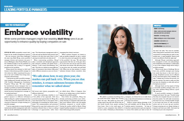 Wealth Professional Magazine article Embracing Volatility